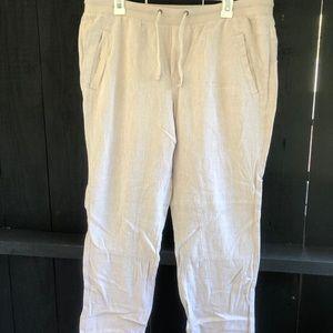 Gap khaki, cropped, dressy lounge pants
